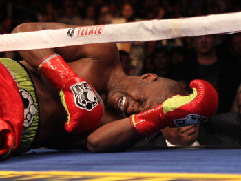 Bernard Hopkins SUPPOSEDLY too injured to continue.