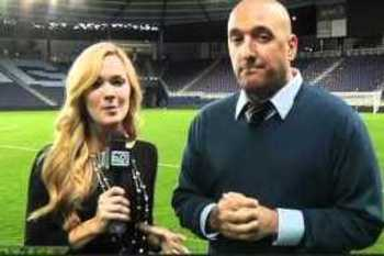 Katie Witham with Simon Borg during the 2011 MLS playoffs.
