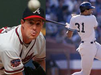 Dave Winfield had over 3,000 hits in his career. Greg Maddux had over 3,000 strikeouts.