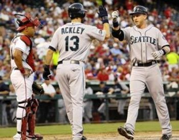 Dustin Ackley and Mike Carp