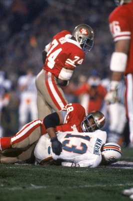 The San Francisco 49ers defense was to much for Marino to handle in Superbowl XIX