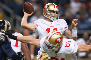 Alex Smith did not put up the numbers that Drew Brees, Eli Manning, and Aaron Rodgers put up