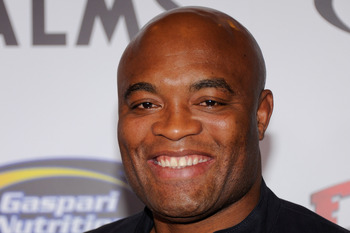 LAS VEGAS, NV - NOVEMBER 30:  Mixed martial artist Anderson Silva arrives at the Fighters Only World Mixed Martial Arts Awards 2011 at the Palms Casino Resort November 30, 2011 in Las Vegas, Nevada.  (Photo by Ethan Miller/Getty Images)