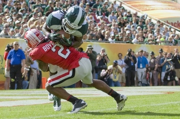 Boykin did everything he could for UGA...including this safety on the Michigan State's first play from scrimmage...