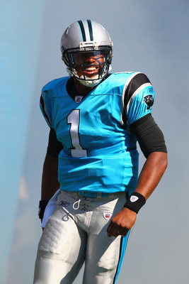 Cam Newton (1) will lead the Panthers to a winning record in 2012.