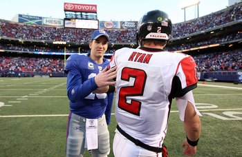 Eli Manning and Matty Ice (Ryan, 2) will go to battle in The Meadowlands.
