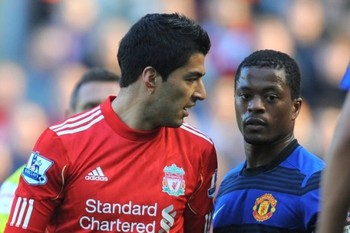 Luis Suarez and Patrice Evra (October 15 2011)