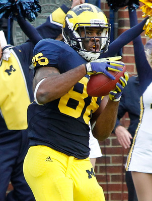 Can fifth-year senior Brandon Moore fill the void left by Kevin Koger (pictured), or will Michigan have to turn to two true freshmen?
