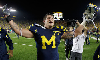 Redshirt junior Taylor Lewan will once again be one of the best offensive tackles in the country in 2012.