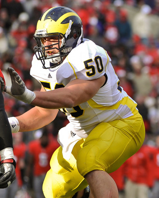 Center is a position of concern entering the offseason for Michigan due to the graduation of All-American center David Molk.