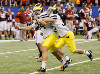 Kicker Brendan Gibbons went from zero to hero for Michigan in 2011.