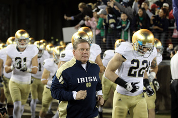 Brian Kelly's top priority will be settling on a quarterback in the spring