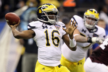 Denard Robinson and the Wolverines will likely be the favorites in the Big 10 Legends division