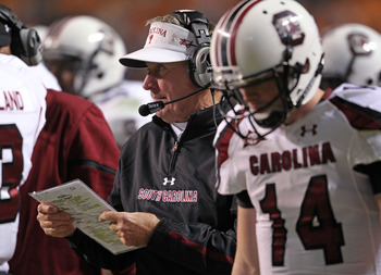 Spurrier changed his offense to match the dual-threat skills of QB Connor Shaw