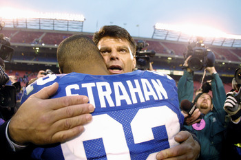 Gastineau congratulates Michael Strahan on breaking his record