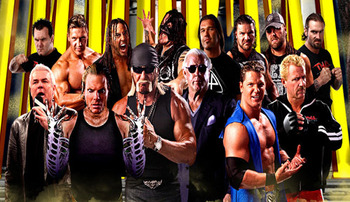 Can you believe a group with only 3 actual wrestlers used to have this many in it?