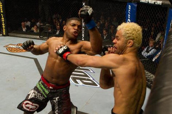 This punch was thrown during the fight with Josh Koscheck, so the odds are very low that Daley connected