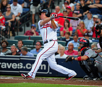 Chipper Jones is 46 homers away from 500.