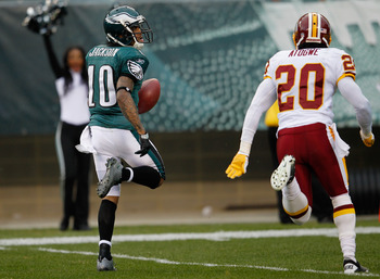 Was this Jackson's last touchdown for the Eagles?