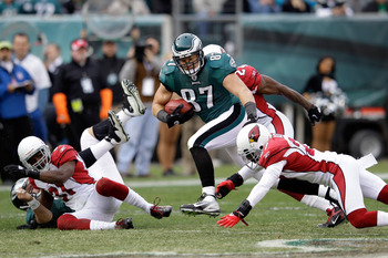 Celek has left tacklers in his wake all season.