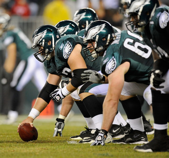 The Eagles are getting stronger on the offensive line.
