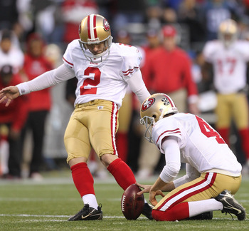 David Akers and Andy Lee are the best kicking tandem in the NFL