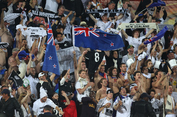 The New Zealand faithful cheer on their side in South Africa