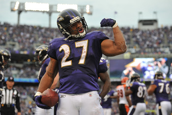 Ray Rice looks to flex his muscles against the Texans this weekend.