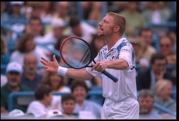 Boris Becker won three hard court major titles.