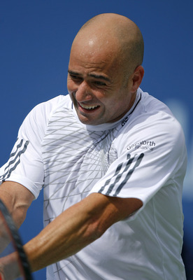 Andre Agassi first had to deal with Pete Sampras on hard courts, only to run into Roger Federer therafter.