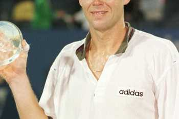 Though a grass court genius, Edberg also had his share of success on hard courts.