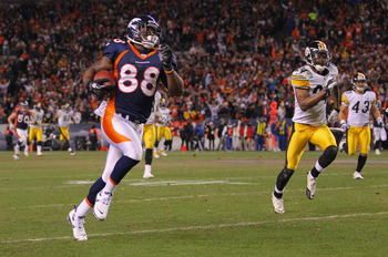 The Steelers can't catch Demaryius Thomas.