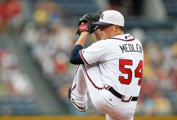 Kris Medlen came back from injury and made 2 relief appearances in 2011.