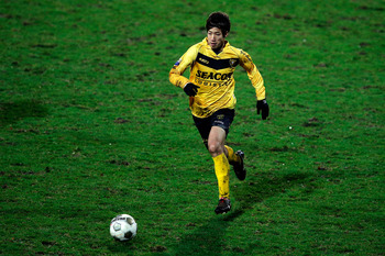VENLO, NETHERLANDS - DECEMBER 23:  Yuki Otsu of Venlo in action during the Eredivisie match between VVV Venlo and Roda JC Kerkrade at the Seacon Stadion De Koel on December 23, 2012 in Venlo, Netherlands.  (Photo by Dean Mouhtaropoulos/Getty Images)