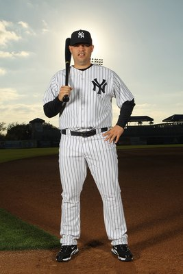 TAMPA, FL - FEBRUARY 25:  Jorge Vazquez #95 of the New York Yankees poses for a photo during Spring Training Media Photo Day at George M. Steinbrenner Field on February 25, 2010 in Tampa, Florida.  (Photo by Nick Laham/Getty Images)