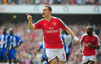 Thomas Vermaelen celebrates