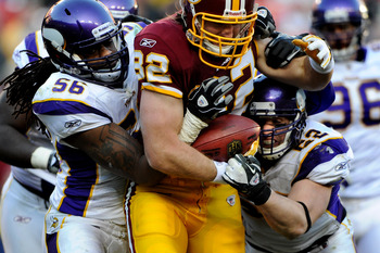 Linebacker Chad Greenway was selected to his first Pro Bowl in 2011.