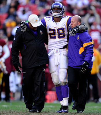 Both Adrian Peterson and Toby Gerhart face uncertain offseasons with knee injuries.