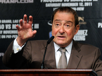 Top Rank's Bob Arum doesn't seem to want to make the fight
