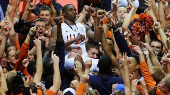 Brandon Paul celebrates on Jan. 17 last after scoring 43 points on visiting Ohio State