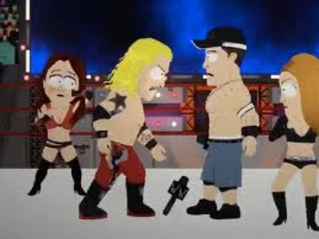 "From the South Park episode ""Wrestling Is Awesome""."