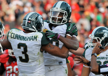 Sparty was not happy about being snubbed by the BCS in favor of their arch rival Michigan