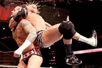 Ziggler nails the Zig-Zag on Punk last night on Raw. Photo cred: wwe.com