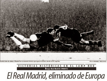 Diving header by Evaristo seals Madrid's fate.