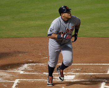 Slugger Miguel Cabrera has mashed 30 or more home runs in every season since his arrival in the American League.