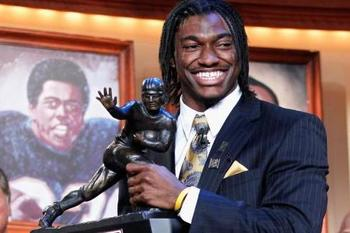 Robert Griffin's departure leaves the Heisman Trophy up for grabs. Property of USAtoday.net