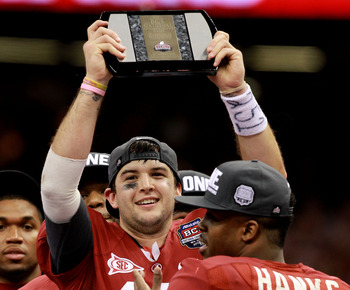 When your sophomore quarterback wins the national championship MVP honors the future is bright.