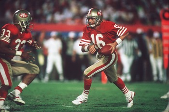 Joe Montana led a game-winning 92 yard drive.