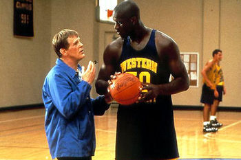 Coach Pete Bell and Neon Boudeaux in Blue Chips