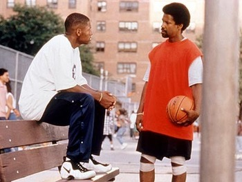 Jesus Shuttlesworth and his dad Jake from He Got Game
